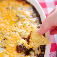 Insane Chili Cheese Dip (with an emergency quick adaptation!)
