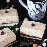 Spiked Mocha Mousse Bars